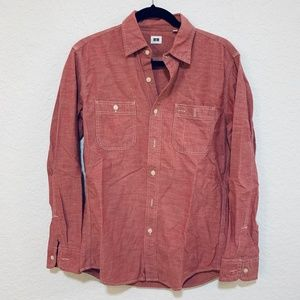 Uniqlo NWOT Faded Red Linen Button Down Shirt